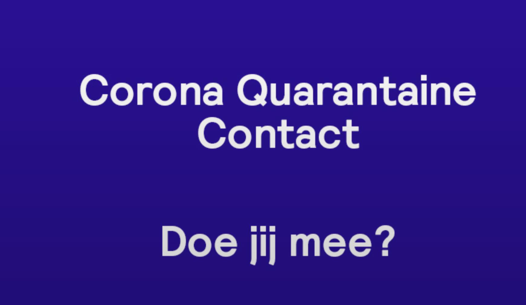 Corona Quarantaine Contact